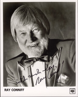 RAY CONNIFF - AUTOGRAPHED SIGNED PHOTOGRAPH