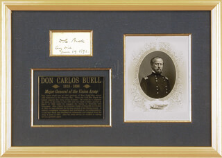 Autographs: MAJOR GENERAL DON CARLOS BUELL - SIGNATURE(S) 06/19/1892