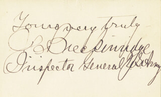 Autographs: MAJOR GENERAL JOSEPH C. BRECKINRIDGE - AUTOGRAPH SENTIMENT SIGNED