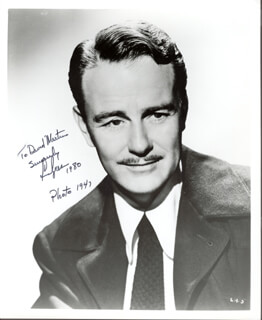 LEW AYRES - AUTOGRAPHED INSCRIBED PHOTOGRAPH 1980