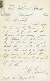 BRIGADIER GENERAL JAMES BARNETT - AUTOGRAPH LETTER SIGNED 1888