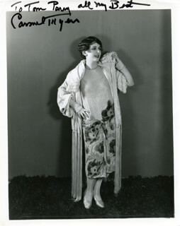 CARMEL MYERS - AUTOGRAPHED INSCRIBED PHOTOGRAPH