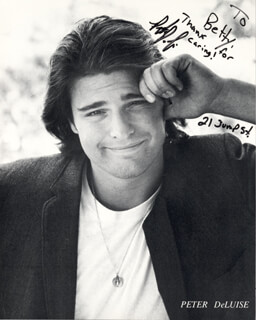 PETER DELUISE - AUTOGRAPHED INSCRIBED PHOTOGRAPH