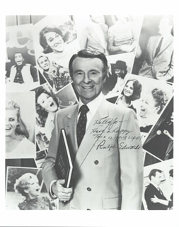 RALPH EDWARDS - AUTOGRAPHED INSCRIBED PHOTOGRAPH