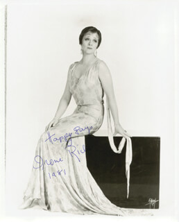 IRENE RICH - AUTOGRAPHED SIGNED PHOTOGRAPH 1981