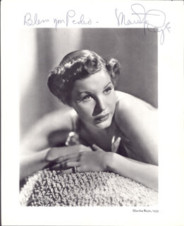 MARTHA RAYE - INSCRIBED BOOK PHOTOGRAPH SIGNED