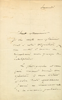 PAUL GUSTAVE DORE - AUTOGRAPH LETTER SIGNED