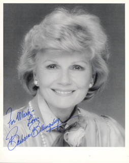 BARBARA BILLINGSLEY - AUTOGRAPHED INSCRIBED PHOTOGRAPH