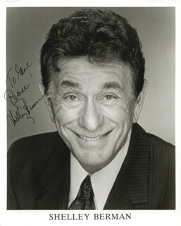 SHELLEY BERMAN - AUTOGRAPHED INSCRIBED PHOTOGRAPH