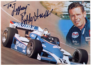 BOBBY UNSER - AUTOGRAPHED INSCRIBED PHOTOGRAPH