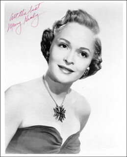 MARY HEALY - AUTOGRAPHED SIGNED PHOTOGRAPH