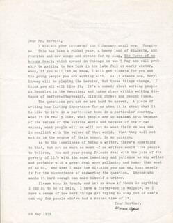 WILLIAM ALFRED - TYPED LETTER SIGNED 05/28/1979
