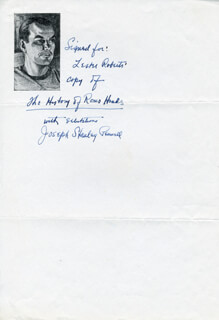 JOSEPH STANLEY PENNELL - AUTOGRAPH NOTE SIGNED