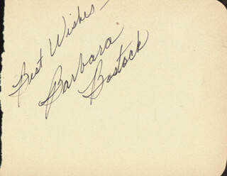 BARBARA BOSTOCK - AUTOGRAPH SENTIMENT SIGNED