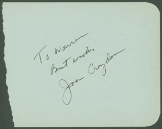 JOAN CROYDON - AUTOGRAPH NOTE SIGNED