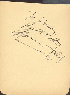 NORMAN FELD - AUTOGRAPH NOTE SIGNED