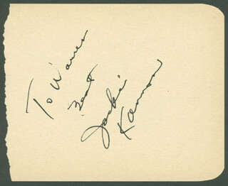 JACKIE KANNON - AUTOGRAPH NOTE SIGNED