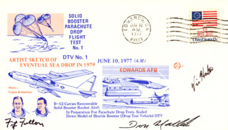 LT. COMMANDER DONALD L. MALLICK - SPECIAL COVER SIGNED CO-SIGNED BY: LT. COLONEL FITZ (FITZHUGH) FULTON JR., VIC HORTON