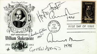 EDWARD ALBEE - FIRST DAY COVER SIGNED 1990 CO-SIGNED BY: ALBERT HORTON FOOTE JR., CHARLES FULLER, GEORGE AXELROD