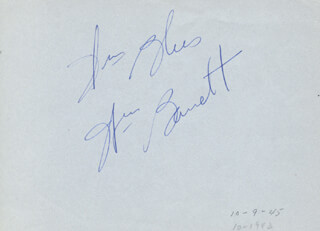 Autographs: WILLIAM A. BARRETT - AUTOGRAPH SENTIMENT SIGNED