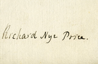 RICHARD NYE PRICE - AUTOGRAPH