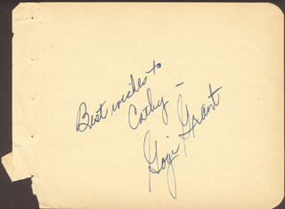 GOGI GRANT - AUTOGRAPH NOTE SIGNED