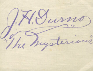 J. H. THE MYSTERIOUS DURNO - AUTOGRAPH