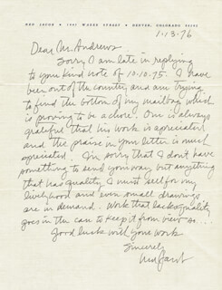 NED JACOB - AUTOGRAPH LETTER SIGNED 01/13/1976