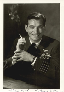 AIR VICE MARSHAL JAMES JOHNNIE JOHNSON - AUTOGRAPHED SIGNED PHOTOGRAPH
