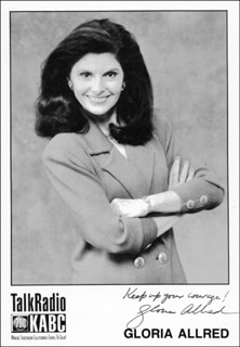 GLORIA ALLRED - AUTOGRAPHED SIGNED PHOTOGRAPH