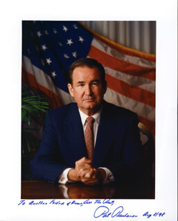 PATRICK J. BUCHANAN - AUTOGRAPHED INSCRIBED PHOTOGRAPH 08/08/1998