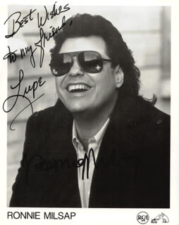 RONNIE MILSAP - AUTOGRAPHED INSCRIBED PHOTOGRAPH