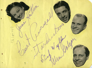 THE STARDUSTERS - AUTOGRAPH CO-SIGNED BY: JACK DURANT, JUNE HUTTON, THE STARDUSTERS (CURT PURNELL), THE STARDUSTERS (GLEN GAYLON), THE STARDUSTERS (DICK WYLDER)