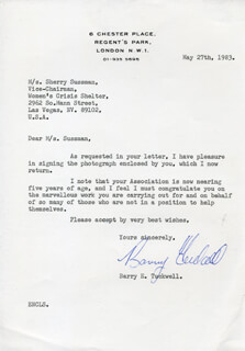 BARRY TUCKWELL - TYPED LETTER SIGNED 05/27/1983