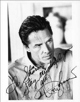 DON JOHNSON - AUTOGRAPHED INSCRIBED PHOTOGRAPH