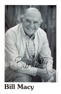 BILL MACY - AUTOGRAPHED SIGNED PHOTOGRAPH