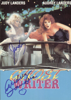 GHOST WRITER MOVIE CAST - AUTOGRAPHED SIGNED PHOTOGRAPH CO-SIGNED BY: AUDREY LANDERS, JUDY LANDERS