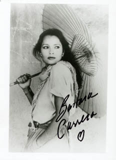 BARBARA CARRERA - AUTOGRAPHED SIGNED PHOTOGRAPH