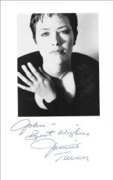 JANINE TURNER - AUTOGRAPHED SIGNED PHOTOGRAPH