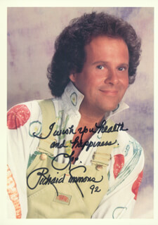 RICHARD SIMMONS - AUTOGRAPHED SIGNED PHOTOGRAPH 1992