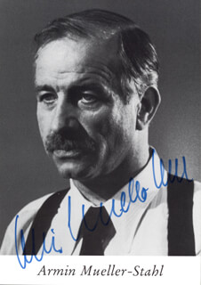 ARMIN MUELLER-STAHL - AUTOGRAPHED SIGNED PHOTOGRAPH