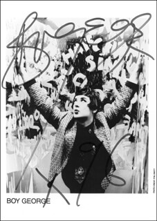 BOY GEORGE (GEORGE ALAN O'DOWD) - AUTOGRAPHED SIGNED PHOTOGRAPH 1996
