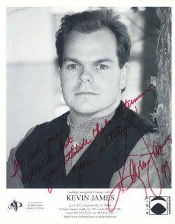 KEVIN JAMES - PRINTED PHOTOGRAPH SIGNED IN INK 1997