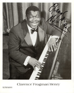 CLARENCE FROGMAN HENRY - PRINTED PHOTOGRAPH SIGNED IN INK