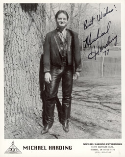 MICHAEL HARDING - AUTOGRAPHED SIGNED PHOTOGRAPH 1997