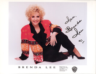 BRENDA LEE - AUTOGRAPHED SIGNED PHOTOGRAPH 1991