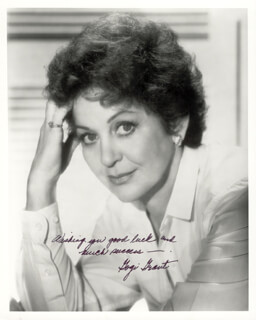 GOGI GRANT - AUTOGRAPHED SIGNED PHOTOGRAPH