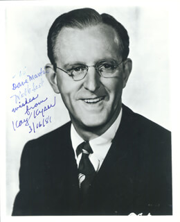 KAY KYSER - AUTOGRAPHED INSCRIBED PHOTOGRAPH 03/16/1981