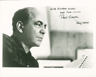 PAUL CRESTON - AUTOGRAPHED SIGNED PHOTOGRAPH 5/1979