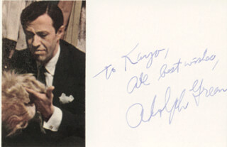 ADOLPH GREEN - AUTOGRAPH NOTE SIGNED